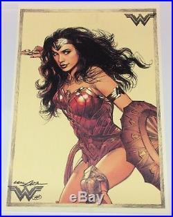13x19 Neal Adams SIGNED Artist Proof AP Fine Art Print Gal Gadot as Wonder Woman