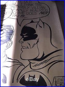 1966 Batman & Robin Original Art. With The Joker-amazing Survivor D. Stone 24x32