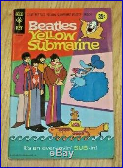 1968 BEATLES YELLOW SUBMARINE GOLD KEY COMIC BOOK WithPOSTER