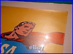1968 original POSTER Superman CCCP-USA USSR Roman Cieslewicz 81x55cm