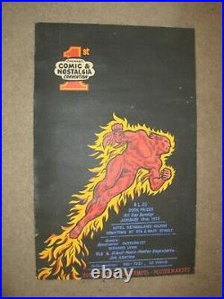 1970's First Ever Comic Book Convention Poster Cincinnati