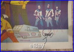 1970s Jim Steranko STAR TREK 23x33 SIGNED Poster FN+ 6.5 Captain Kirk Spock Crew