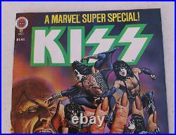 1970s Vintage Marvel Kiss Comic Super Special Book Vol. 1 No. 2 with Poster