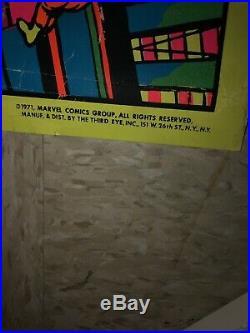 1971 Marvel Fantastic Four Jack Kirby Third Eye Blacklight Poster 21 X 33 Rare