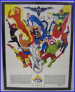 1973 Jim Steranko art FOOM Poster. Friends Of Old Marvel