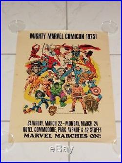 1975 Marvel Comics Super Heroes Comic Convention Poster Buscema Art Marvelmania