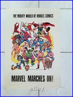1975 Marvel Comics Super Heroes Promo Poster John Buscema Stan Lee Marvelmania