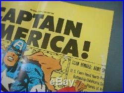 1976 Nabisco Weeties Newton Marvel Comic Captain America Cereal Box Poster