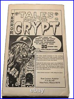 1979 30 Tales From The Crypt Of Terror EC Comics Cover Poster Portfolio
