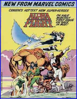 1983 John Byrne Art Alpha Flight #1 Original Promo Poster Marvel Comics Canada