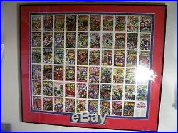 1984 First Edition Marvel Comic Covers Framed Uncut Sheet Ltd Edition #/1984 Coa