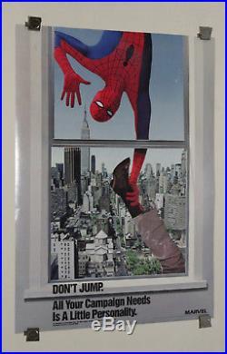 1987 Original Amazing Spider-man Marvel Comics promo poster 11980's Marvelmania