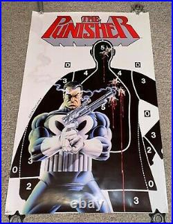1987 Punisher Rare Vtg Poster 22x34 Mike Zeck Marvel Press Comic Cover Target