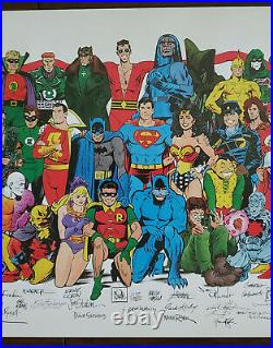 1988 HISTORY OF THE DC UNIVERSE POSTER With SIGNATURE REPRODUCTIONS RARE & LIMITED
