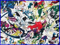 1988 Hannigan & Rubinstein Marvel Comics Universe Giant Super Hero Poster 50x50