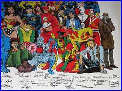 1988 History of the DC Universe posterJLA/Batman/Superman/Wonder Woman/Watchmen