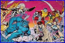 1992 Jim Lee 59x30 X-Men 1 door poster Wolverine/Magneto/Gambit/Rogue/Psylocke