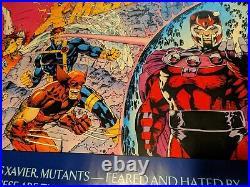 1992 Marvel Comics Jim Lee 59x30 X-Men 1 Vintage poster