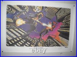 1995 Spider-Man VS Green Goblin Signed Print-Alex Ross & John Romita
