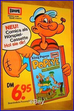 1st 1986 XL (84cm) Promo Only Poster Europa Hörspiel POPEYE Der Spinatmatrose