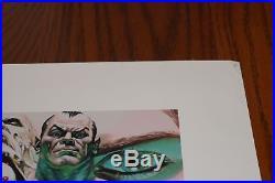 2007 ALEX ROSS SIGNED Infinitely Evil DC VILLAINS S&N Giclee PRINT w COA Joker