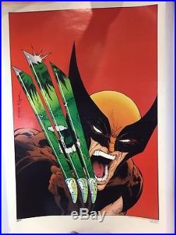34x22 1988 Wolverine Hulk Poster Todd Mcfarlane Comic Shop Exclusive