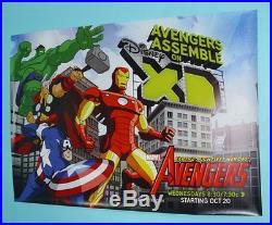 68x47 Avengers XD Marvel cartoon promo posterIron Man/Captain America/Hulk/Thor