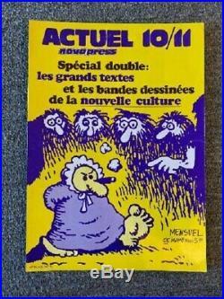 ACTUEL Nova Press No. 10/11 Poster Circa 1971 For Underground French Comic Book