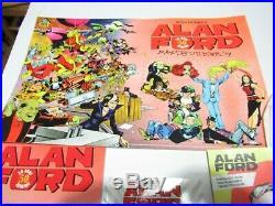 ALAN FORD PACK CATALOGO 50 ANNI + VARIANT 597 + BORSA + POSTER GADGET No CORNO