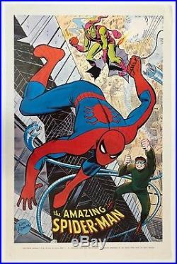 AMAZING SPIDER-MAN Marvelmania Poster Vintage Marvel, 1st PRINTING 1969 not 1970