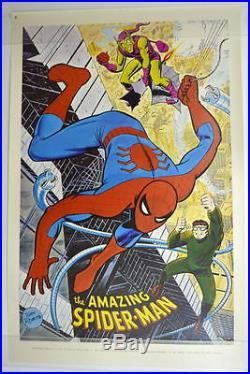 AMAZING SPIDER-MAN POSTER MARVELMANIA 1970 John Romita Art Mail Order ONLY