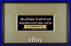 Anti Bullying Behind Keyboards Poster Black $3500
