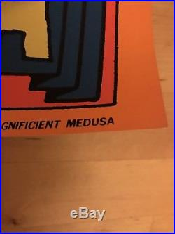 AUTHENTIC MAGNIFICENT MEDUSA MARVEL Third Eye Black Light Poster 1971 #4013