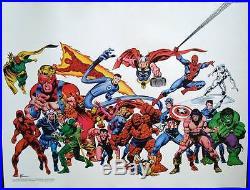 AVENGERS CONAN MARVELMANIA 1978 Vintage Marvel comics poster 18x24 JOHN BUSCEMA