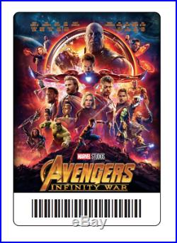 AVENGERS INFINITY WAR Cast Signed DS Signed Movie Poster Marvel Comics DEADPOOL