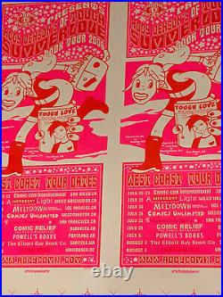 Abby Denson Tough Love Japanese Comic Book Tour 2 Poster Uncut Proof Sheet
