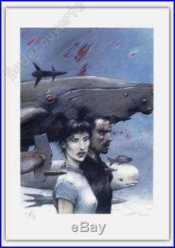 Affiche BILAL Enki La couleur de l'air numérotée 299ex signée 50x70 cm