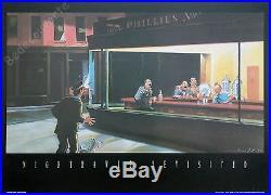 Affiche Esteve Fort Tintin Nighthawks revisited 50x70 cm