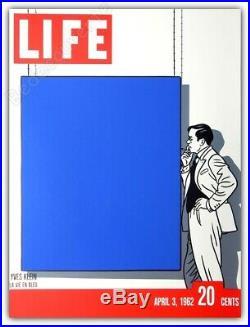 Affiche Floc'h Yves Klein La vie en bleu Couverture Life Sérigraphie 66x88,5 cm