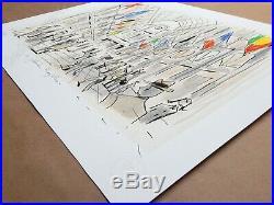 Affiche François Avril Bruxelles Les Galeries Royales Estampe pigmentaire
