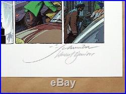 Affiche François SCHUITEN Blake et Mortimer Dernier Pharaon 200ex signé 50x70 cm