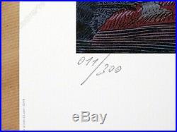 Affiche François SCHUITEN Blake et Mortimer Dernier Pharaon 300ex signé 50x70 cm