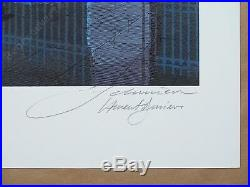 Affiche François SCHUITEN Blake et Mortimer Fête de la BD 200ex signé 50x70