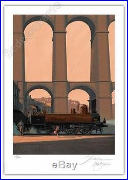 Affiche François SCHUITEN DURIEUX Bretagne Express 200ex signée 50x70 cm