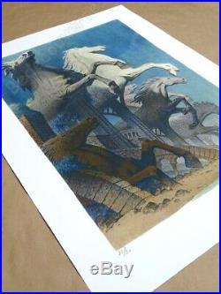 Affiche François SCHUITEN Digigraphie Nebula 30ex signée 60x80 cm