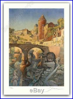 Affiche François SCHUITEN Un Artiste dans la ville 300ex signée 50x70 cm