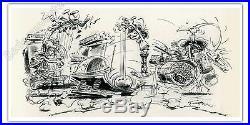 Affiche Franquin Le Band à Gaston 500ex numérotée 50x100 cm