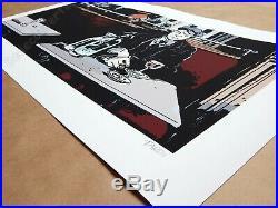 Affiche Jacques Tardi 1915 au bistrot Estampe Pigmentaire signée 199ex 40x70 cm