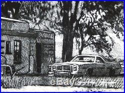 Affiche Jean-Claude GOTTING Route 66 Texas Estampe pigmentaire 50ex signée 40x60