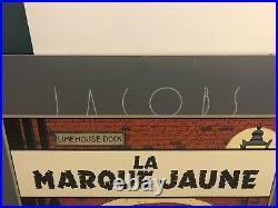 Affiche-Lithographie Blake et Mortimer La Marque Jaune Archives Internationales